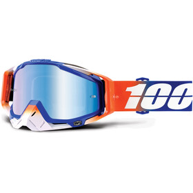 100% Racecraft Anti Fog Mirror Goggles röd/blå